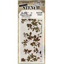 Tim Holtz Layered Stencil 4.125X8.5 - Blossom