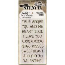 Tim Holtz Layered Stencil 4.125X8.5 - Valentine