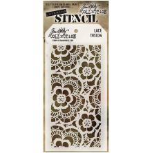 Tim Holtz Layered Stencil 4.125X8.5 - Lace