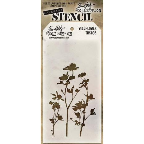 Tim Holtz Layered Stencil 4.125X8.5 - Wildflower
