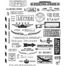 Tim Holtz Cling Rubber Stamp Set 7X8.5 - Correspondence