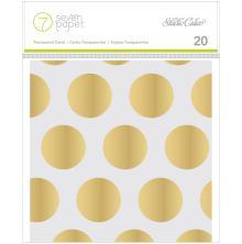 Seven Paper Handbook Embellishment Cards 4X4 20/Pkg - Amelia UTGÅENDE