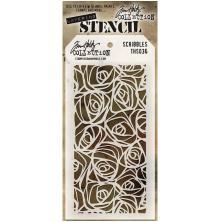Tim Holtz Layered Stencil 4.125X8.5 - Scribbles