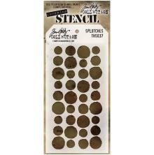 Tim Holtz Layered Stencil 4.125X8.5 - Splotches
