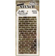 Tim Holtz Layered Stencil 4.125X8.5 - Bricked