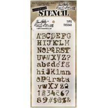Tim Holtz Layered Stencil 4.125X8.5 - Typo