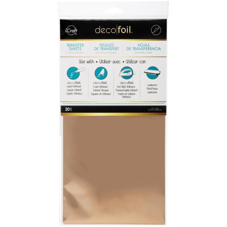 Thermoweb Deco Foil Transfer Sheet 6X12 20/Pkg - Rose Gold