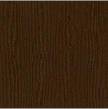 Bazzill Cardstock Mono 12X12, 25/Pkg - Canvas/Chocolate