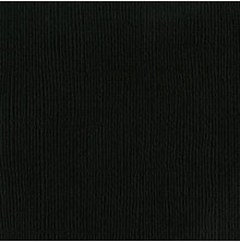 Bazzill Cardstock Mono 12X12, 25/Pkg - Canvas/Raven