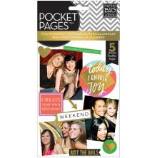 Me & My Big Ideas Pocket Pages Clear Stickers 6/Pkg - Big City Brights