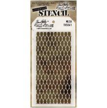 Tim Holtz Layered Stencil 4.125X8.5 - Mesh