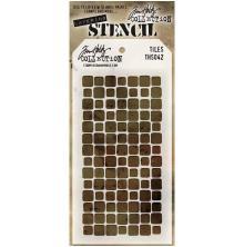 Tim Holtz Layered Stencil 4.125X8.5 - Tiles