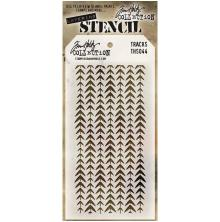 Tim Holtz Layered Stencil 4.125X8.5 - Tracks