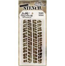 Tim Holtz Layered Stencil 4.125X8.5 - Treads