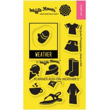 Waffle Flower Crafts Clear Stamps 2X3 - Weather UTGÅENDE