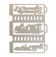 Tonic Studios Cracker Die - Christmas Cracker & 3 Sentiment Die Set 375E