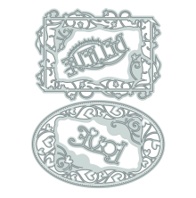 Tonic Studios Topper Die Set - Believe/Love Frames 172E