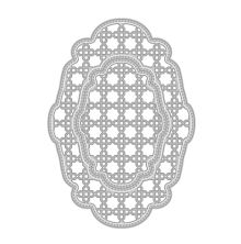 Tonic Studios Deco Oval Trellis Base Die Set 506E