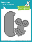 Lawn Fawn Custom Craft Die - Give A Hoot