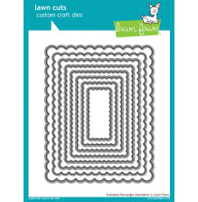 Lawn Fawn Custom Craft Die - Scalloped Rectangle Stackables