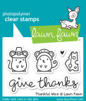 Lawn Fawn Clear Stamps 3X2 - Thankful Mice