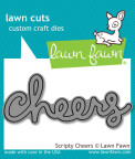 Lawn Fawn Custom Craft Die - Scripty Cheers