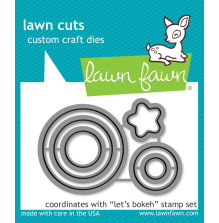 Lawn Fawn Custom Craft Die - Lets Bokeh