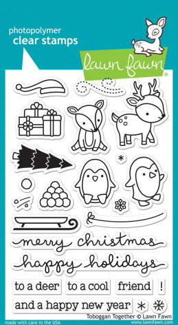 Lawn Fawn Clear Stamps 4X6 - Toboggan Together