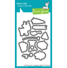 Lawn Fawn Custom Craft Die - Toboggan Together