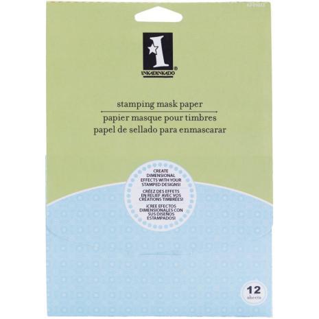 Inkadinkado Stamping Mask Paper 12/Pkg