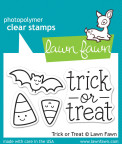 Lawn Fawn Clear Stamps 3X2 - Trick Or Treat