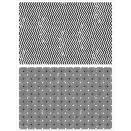 Tim Holtz Cling Rubber Stamp Set - Zigzag & Diamonds
