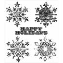 Tim Holtz Cling Rubber Stamp Set - Weathered Winter