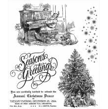 Tim Holtz Cling Stamps 7X8.5 - Christmas Magic