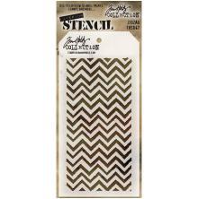 Tim Holtz Layered Stencil 4.125X8.5 - Zigzag