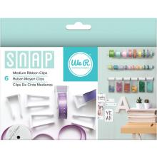 We R Memory Keepers Snap Storage Ribbon Clips 6/Pkg - Medium UTGÅENDE