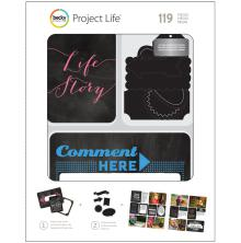 Project Life Value Kit W/Chalkboard Stickers 119/Pkg - Chalkboard