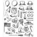 Tim Holtz/Sizzix Cling Rubber Stamp Set 7X8.5 - Crazy Things