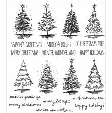 Tim Holtz Cling Stamps 7X8.5 - Scribble Christmas