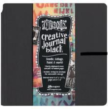 Dylusions Black Creative Square Journal 8X8