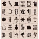 Hero Arts Mounted Rubber Stamp Set 3X3 - Holiday Planner Icons