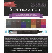 Spectrum Noir Generation 2, 24 Pen Box Set by Crafters Companion - Darks