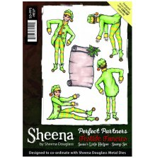 Sheena Douglass Perfect Partners A5 Rubber Stamp Set - Santas Little Helper UTGÅ