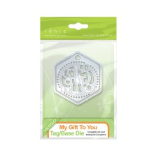 Tonic Studios Indulgence Thins Tag Die Set - My Gift To You 1068e