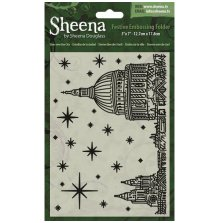 Sheena Douglass 5X7 Festive Embossing Folder - Stars Over the City UTGÅENDE