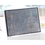Sheena Douglass 5X7 Festive Embossing Folder - Stars Over the City UTGÅENDE