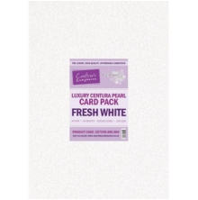 Crafters Companion Luxury Centura Pearl A4 Card Pack 40/Pkg - Fresh White