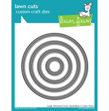 Lawn Fawn Custom Craft Die - Large Stitched Circles