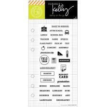 Hero Arts Kelly Purkey Clear Stamps 2.5X6 - School Planner UTGÅENDE