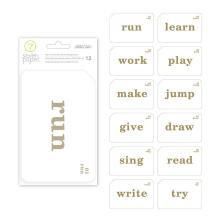 Seven Paper Foil Transparent Cards 4X6 12/Pkg - Darcy Gold Words UTGÅENDE